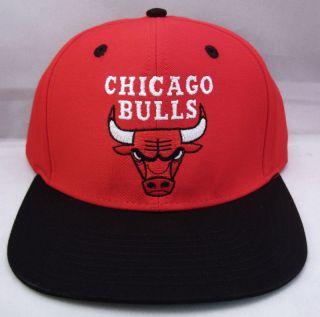 Bulls Snapback Cap Hat Air Jordan Derrick Rose 2tone Red Black New
