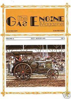 OTTAWA Drag Saw, Ohio Tractor Data, 1978 Gas Engine Mag