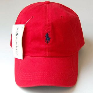 polo casual pony outdoor golf sports ball cap hat red/n