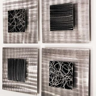 Modern Abstract Black/Silver Metal Wall Art Sculpture Freestyle Jon