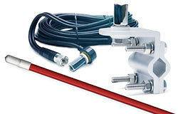 ANTENNA KIT W/ MT & COAX RED SINGLE CB TOP LOADED FOR COBRA & OTHERS