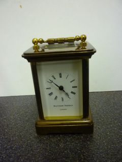 Miniture Mathew Norman Brass Carriage Clock Just Serviced FWO