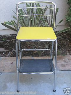 Retro Counter Chair Step Stool Red Cosco For The Home