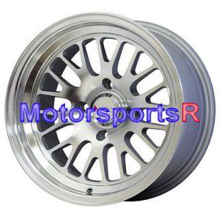 15 15x8 XXR 531 Machine Silver Wheels Rims 4x114.3 Deep Dish Old