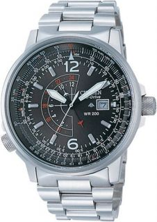 CITIZEN PROMASTER NIGHTHAWK EURO ECO DRIVE PILOTS WATCH BJ7010 59E