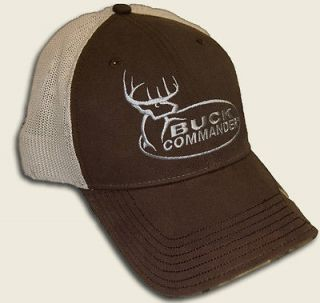 NEW BUCK COMMANDER BROWN & MESH CAP HAT DUCK