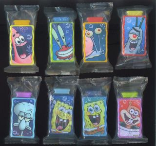 SET 8 SPONGEBOB SQUAREPANTS Water Squirter sponge bob cereal toy