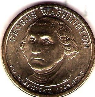 2007 P First President George Washington Uncirculated Dollar Coin