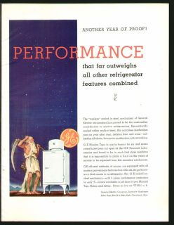 General Electric GE Monitor Top Refrigerator APRIL 1935 Original Print