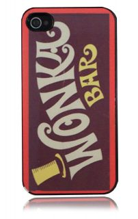 4s Charlie & The Chocolate Factory Wonka Bar Design Hard Case Cover