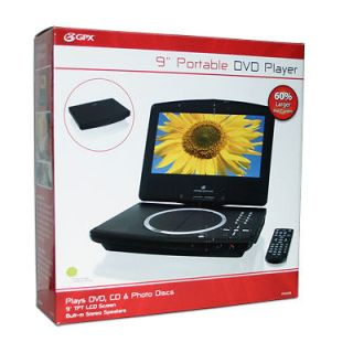 NEW GPX PD908B 9 Inch Portable CD & DVD Player TFT/LCD Video Screen