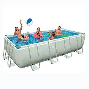 Intex 9x18x52 Ultra Frame Rectangular Above Ground Swimming Pool