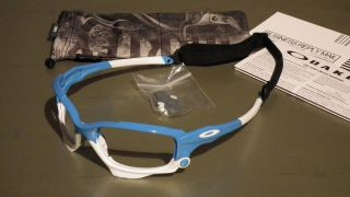 OAKLEY JAWBONE RACING JACKET POLISHED GLACIER SUNGLASSES FRAME & BAG