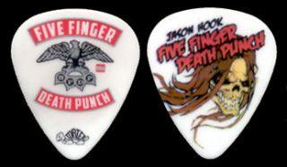 FIVE FINGER DEATH PUNCH     2012 Jason Hook Skull guitar pick