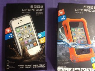 Lifeproof iPhone 4/4S White Life Proof case + Lifejacket both New In