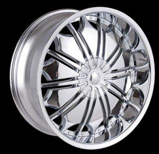 26 inch T706 Chrome wheels Lincoln Navigator MARK LT