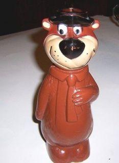 1960s Knickerbocker Plastic Yogi Bear Soakie Bank Hanna Barbara Prod