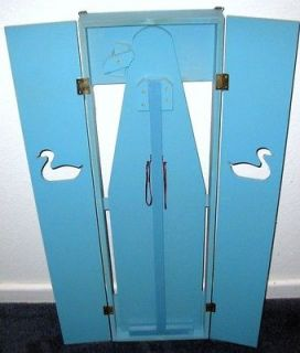 VINTAGE Wooden Wall Hung Fold Out Ironing Board, Unique Duck Cut Outs