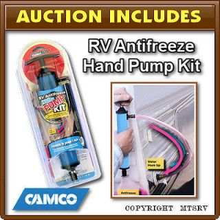 CAMCO RV Antifreeze Hand Pump Kit Water Winterize NEW f