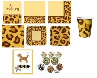 Leopard Jungle Birthday Party Baby Shower Supply U Pick Plates