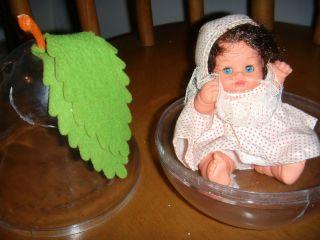 Vintage 6 FURGA baby doll mini PEAR Cacio con la Pera 1960 Italy