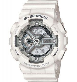 New Casio G Shock GA110C 7A Large White Analog Digital Multi Fun Watch