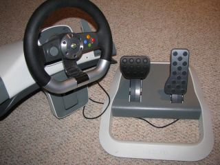 Micosoft Xbox 360 Wireless Steering Wheel Controller w/ Pedals