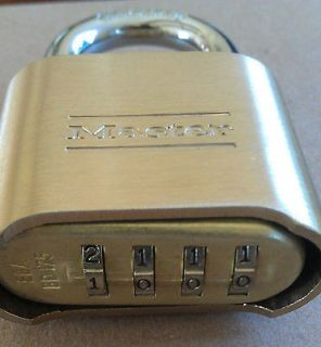 Master Lock 175D Brass Padlock   Combination Lock   NEW