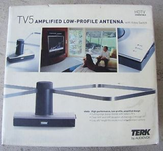 TERK TV5 Low Profile Amplified Indoor Antenna with Video Switch