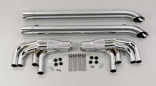 Patriot Exhaust H1165 Side Exhaust Lake Pipe 4 Steel Chrome 3.5 in
