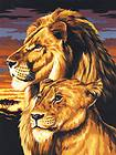 LION BOX CANVAS ARTIST PAINTING PAINT BY NUMBERS KIT