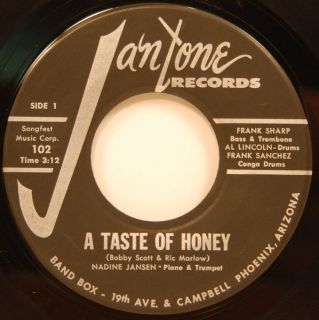 Nadine Jansen Quartet A Taste of Honey / So Goes My Dream 45 NM Jazz