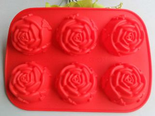 1PCS Rose silicone mold Cake pan baking mold chocolate jelly mould
