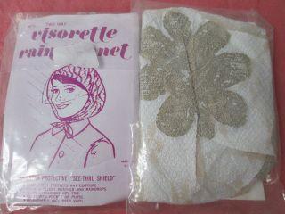 vintage rain bonnet in Clothing,