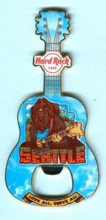 Hard Rock Cafe Seattle BIGFOOT Sasquatch Magnet Bottle Opener   SOLD