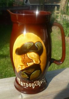 KINGSWARE AMERICAN PARSON THORNE WHISKEY WHISKY WATER PITCHER JUG