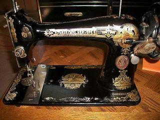 Vtg 1917 Singer Treadle Sewing Machine Model 127 Sphinx Design