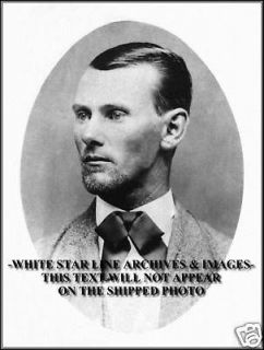Photo 5x7 Portrait Jesse James, Old West American Outlaw, 1876