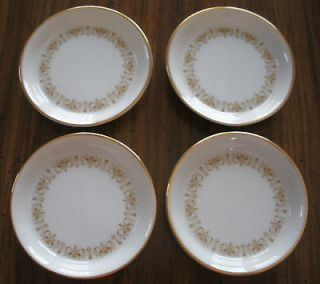 SHEFFIELD FINE CHINA ~ IMPERIAL GOLD 504 Y ~ SET OF 4 COASTERS ~ MINT