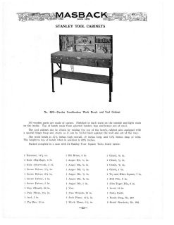 1932 AD STANLEY TOOL BENCHES, TOOL CABINETS, TOOL CHESTS WITH TOOLS 6