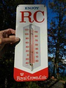 VINTAGE RC COLA SODA ROYAL CROWN COLA THERMOMETER ADVERTISING DRINK
