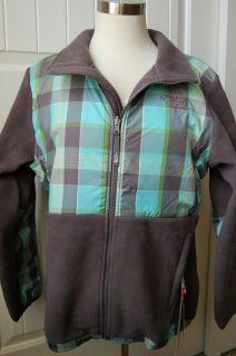 Face Denali Fleece Jacket Girls XL 18 Womens S Sonnet Grey Plaid $118