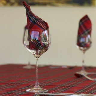 RED TARTAN PLAID CHRISTMAS XMAS HOLIDAY TABLECLOTH VARIOUS SIZES