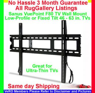 Sanus VuePoint F80 Low Profile TV Wall Mount LCD Flat Screen Monitor