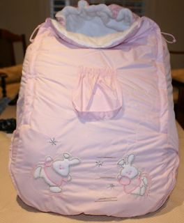 pink infant car seat covers