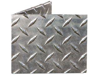 Dynomighty Steel Metal Diamond Plate Mighty Tyvek Paper Billfold