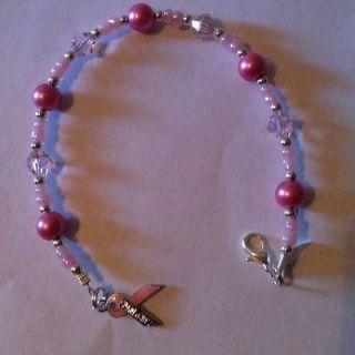 Breast Cancer Survivor Pink Ribbon Bracelet