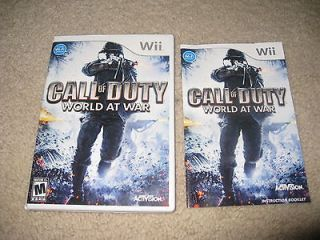 NINTENDO WII EMPTY GAME CASE MANUAL ARTWORK COVER CALL OF DUTY WORLD