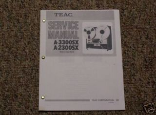 TEAC A 3300SX Reel to Reel Service Manual FREE SHIP