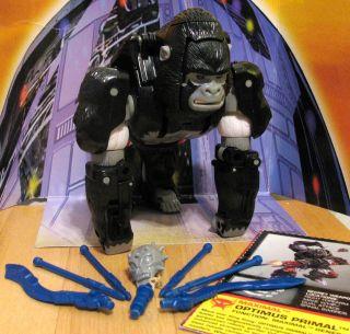 TRANSFORMERS BEAST WARS Optimus Primal 100% complete Optimus Prime w